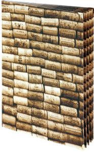 Weinkarte mit Kartoneinschüben für 12 sichtbare Seiten.