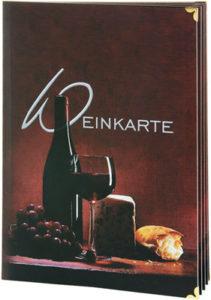 Weinkarten Top Card-Standardmotiv.