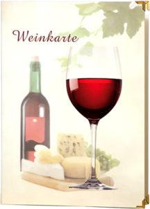 Weinarte aus foliertem Karton mit 2 Einschubseite